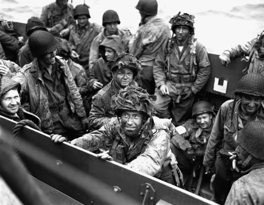 Troops On D Day The Normandy Invasion