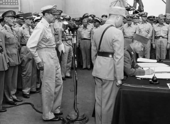 Japanese Surrender On Uss
