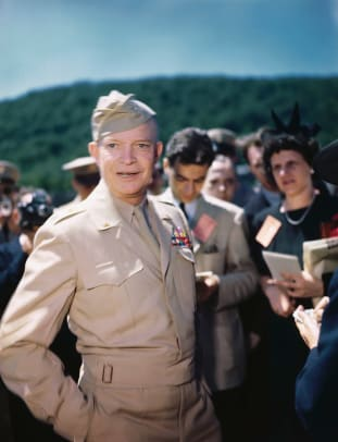 General Dwight Eisenhower Talking To Reporters 2