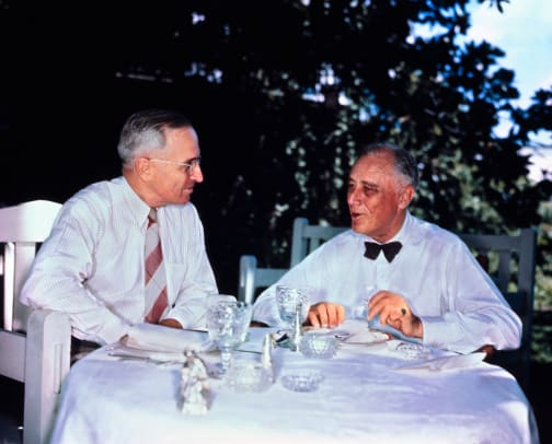 Franklin D Roosevelt And Harry Truman 2