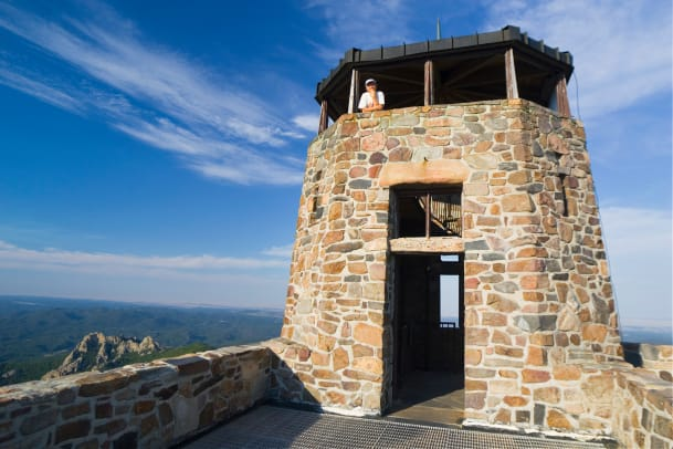 Stone Watchtower On Harney Peak