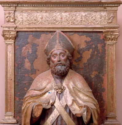 Parish Sculpture Of Saint Nicholas At Castello Daviano 2