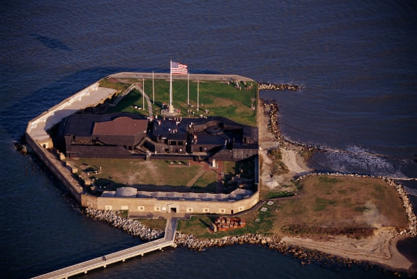 Aerial View Of Fort Sumter 2