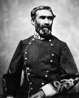 Confederate General Braxton Bragg In Uniform