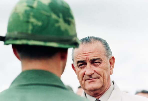 President Johnson Visits Vietnam Soldiers 2
