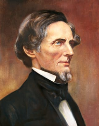 Profile Portrait Of Jefferson Davis 3