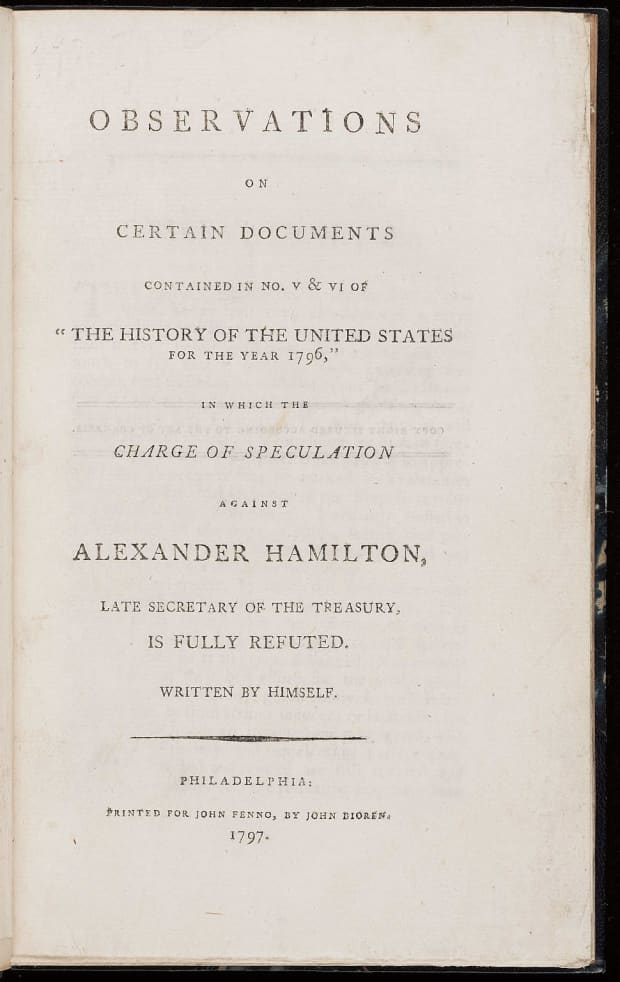 the sex scandal that ruined alexander hamiltons chances of becoming  the sex scandal that ruined alexander hamiltons chances of becoming  president   history