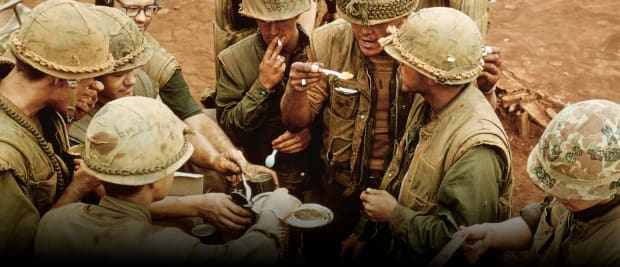 Russian army food ready to eat one-time food rations military