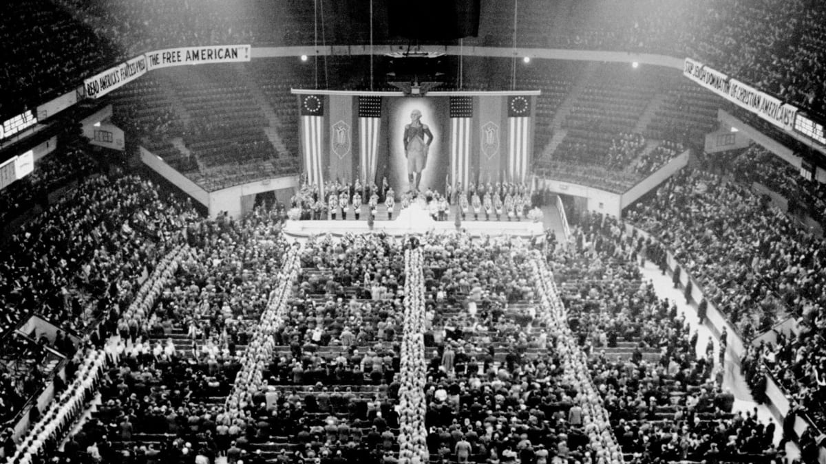 Americans hold a Nazi rally in Madison Square Garden