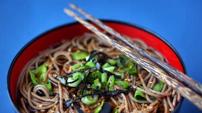 Lucky New Year's Food Traditions, Soba noodles