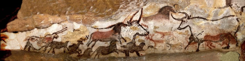 Panel of the Unicorn in Lascaux.