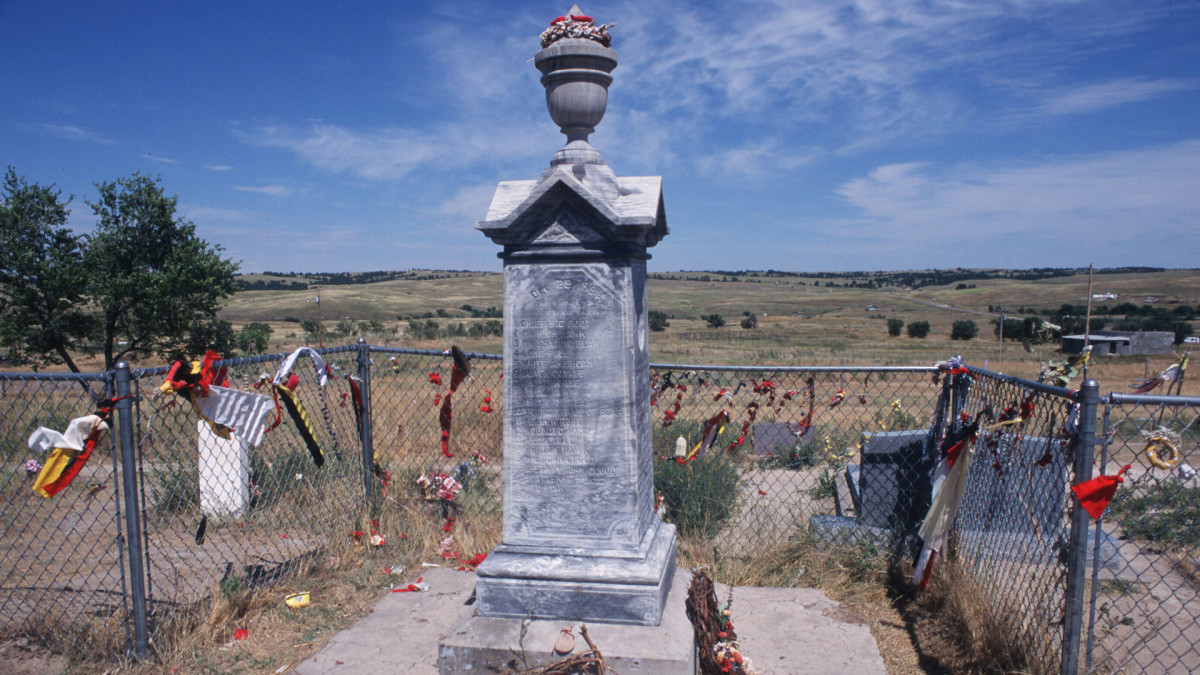 U.S. Army massacres Indians at Wounded Knee