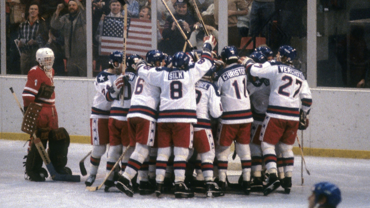 U.S. hockey team beats the Soviets in the 'Miracle on Ice'
