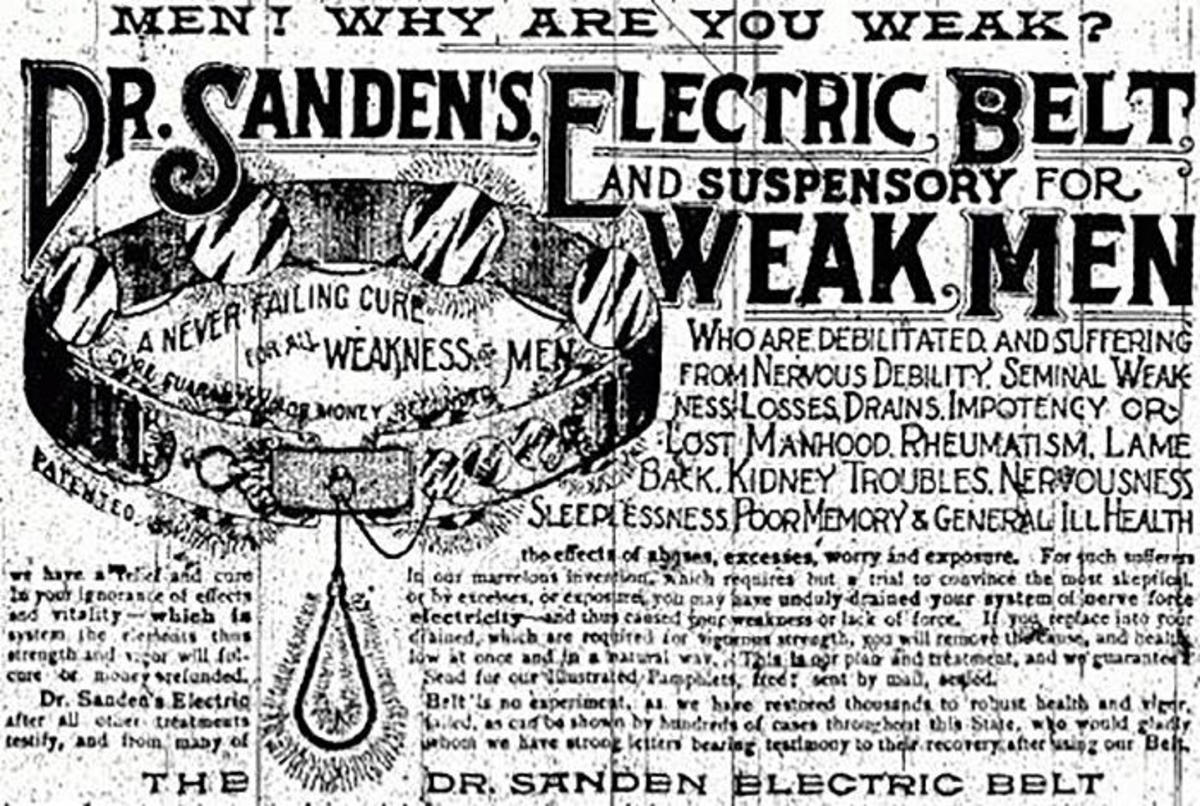 Early-20th-century electric belt advertised as a cure for impotence. (Credit: Joe Wolf/Flickr Creative Commons/CC BY-ND 2.0)