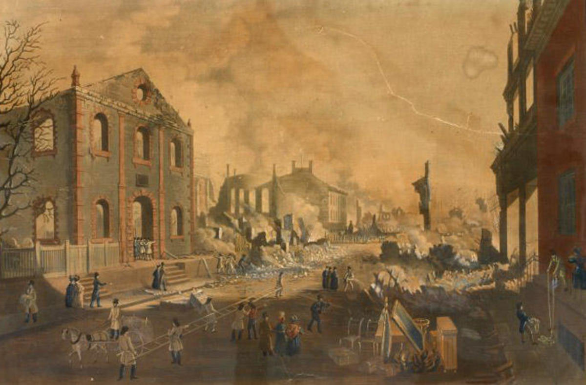 View of the ruins after the Great Fire in New York, 1835.(Credit: The New York Public Library)