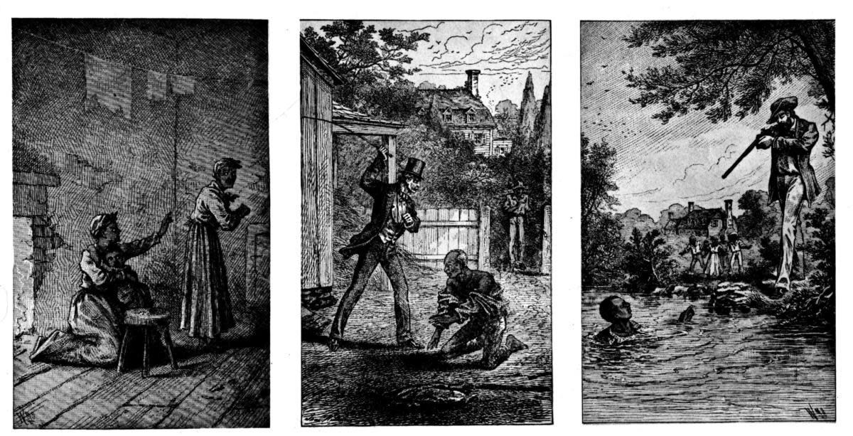 Illustrations depicting Frederick Douglass's life from slavery to abolitionist. (Credit: Photo12/UIG via Getty Images)