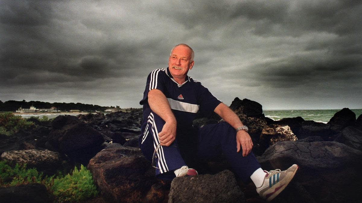 Peter Norman at Williamstown Beach, Australia, 2000. (Credit: Fairfax Media/Fairfax Media/Getty Images)