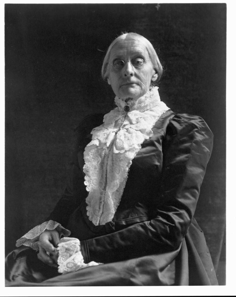 Susan B. Anthony. (Credit: Frances Benjamin Johnston/Library of Congress/Corbis/VCG/Getty Images)