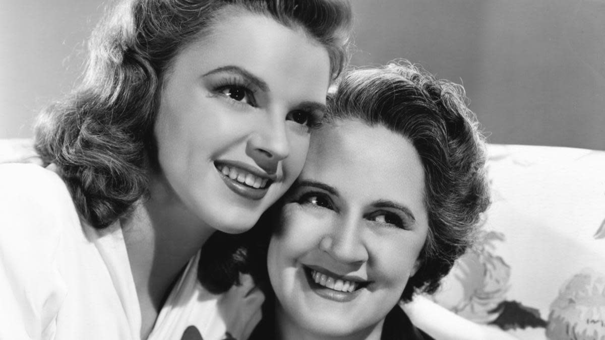 Judy Garland and her mother