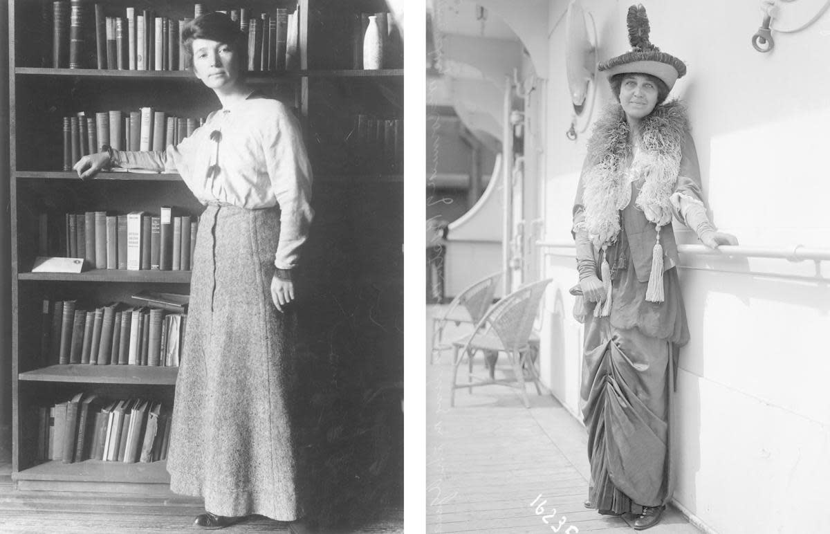 Margaret Sanger and Katharine McCormick. (Credit: Hulton Archive/Getty Images & Bettman Archive/Getty Images)