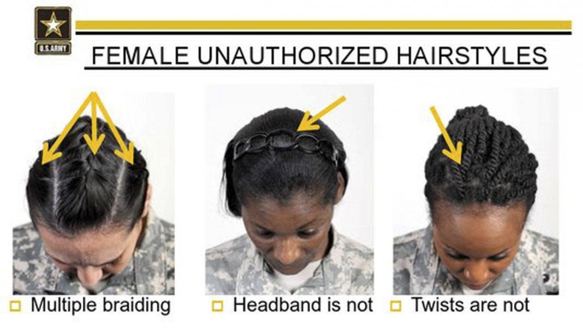US Army Unauthorized Hairstyles