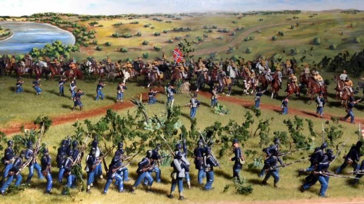 Diorama depicting the Battle of Palmito Ranch (Credit: Texas Military Forces Museum, Camp Mabry, Austin, TX)