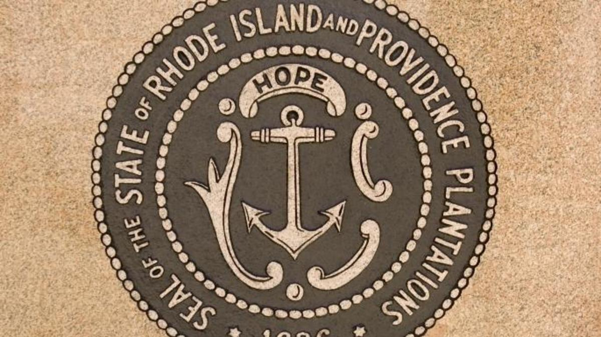 Rhode Island State Seal. (Credit: Kenneth Wiedemann/Getty Images)