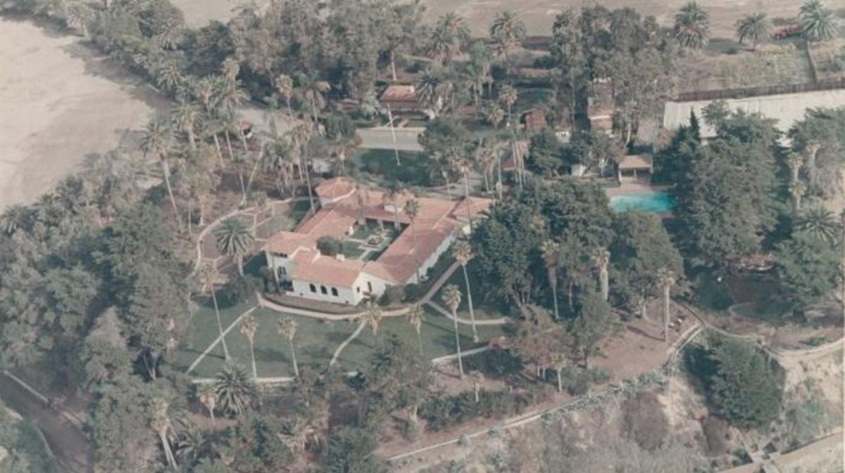 Overhead shot of La Casa Pacifica. (Credit: Public Domain)