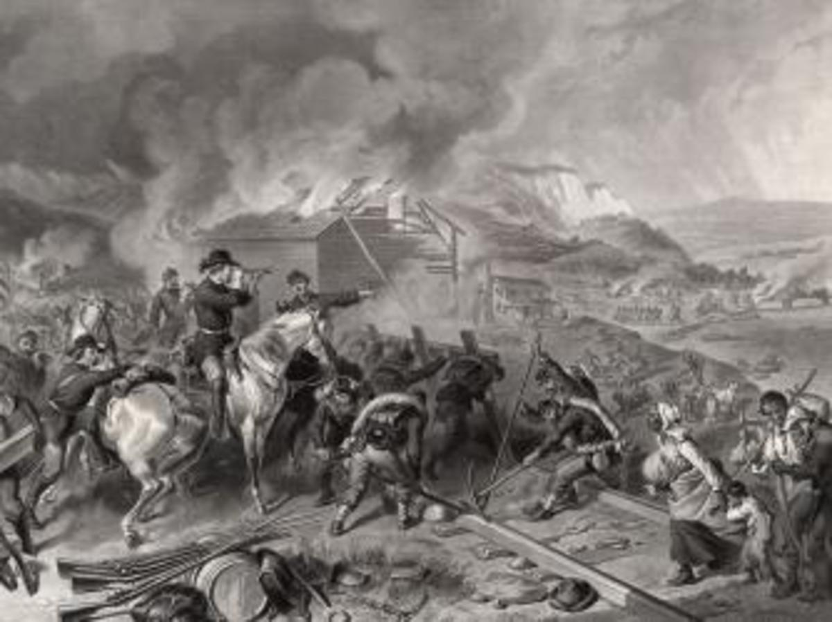 "Engraving depicting Sherman's ""march to the sea"""