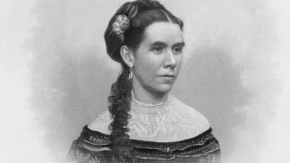 Engraved portrait of Martha Johnson Patterson, the eldest daughter of the 17th President of the U.S., Andrew Johnson.  Original Artwork by J.C. Buttre.  (Credit: Hulton Archive/Getty Images)