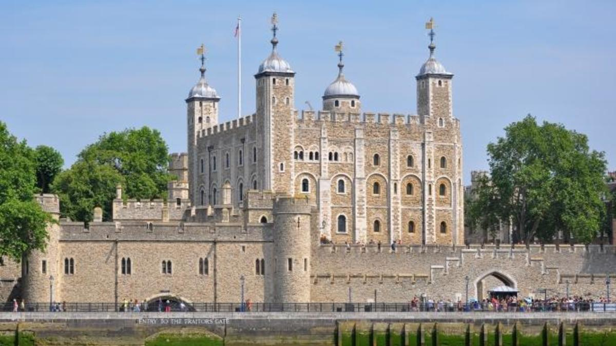 Tower of London viewed from the River Thames. (Credit: Bob Collowan)