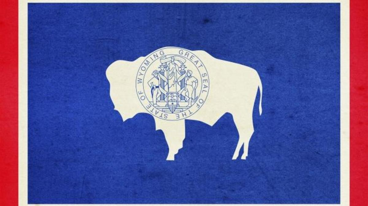 Wyoming Flag. (Credit: Classix/Getty Images)