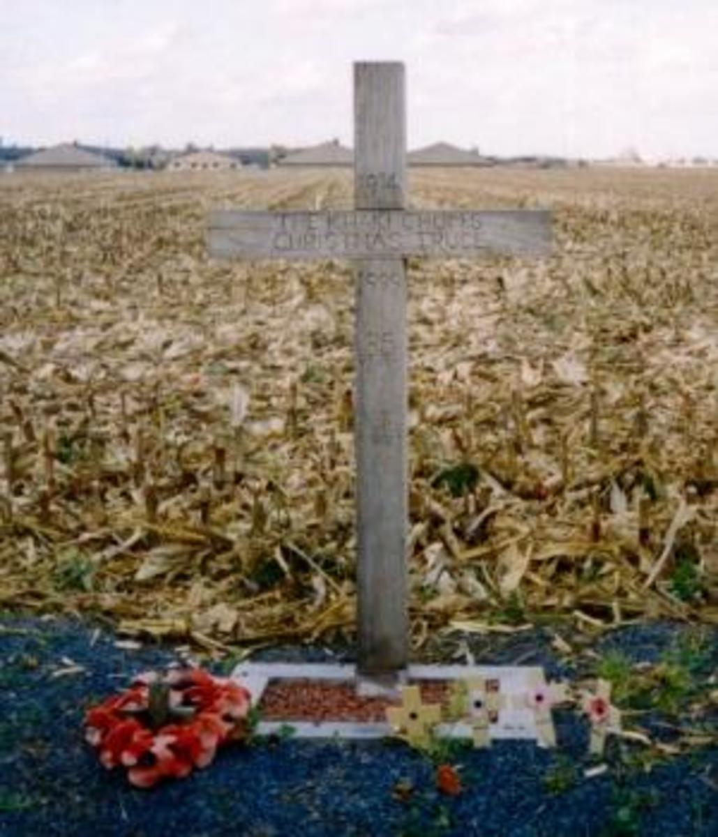 Christmas Truce cross erected in Belgium (Credit: Corbis Images)