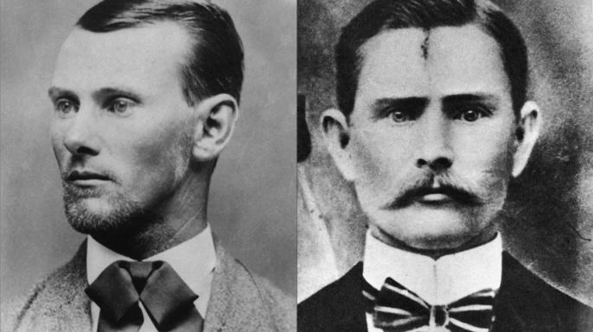 Two Portraits Of Outlaw Jesse James On The Left Is A More Commonly Accepted Portrait