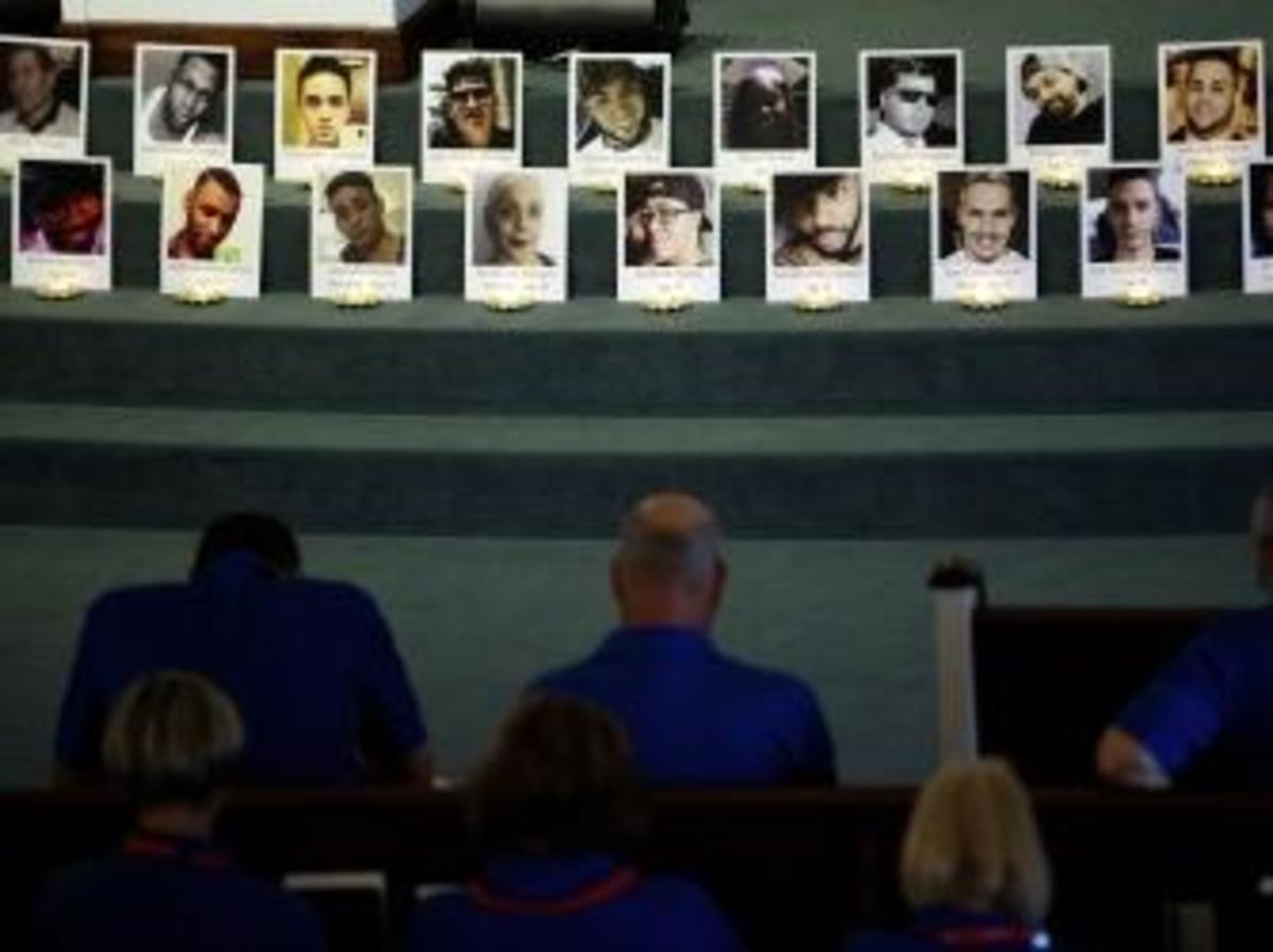 A prayer service is held for the victims of the Pulse Nightclub shooting at Delaney Street Baptist Church, June 15, 2016 in Orlando, Florida. (Credit: Drew Angerer/Getty Images)