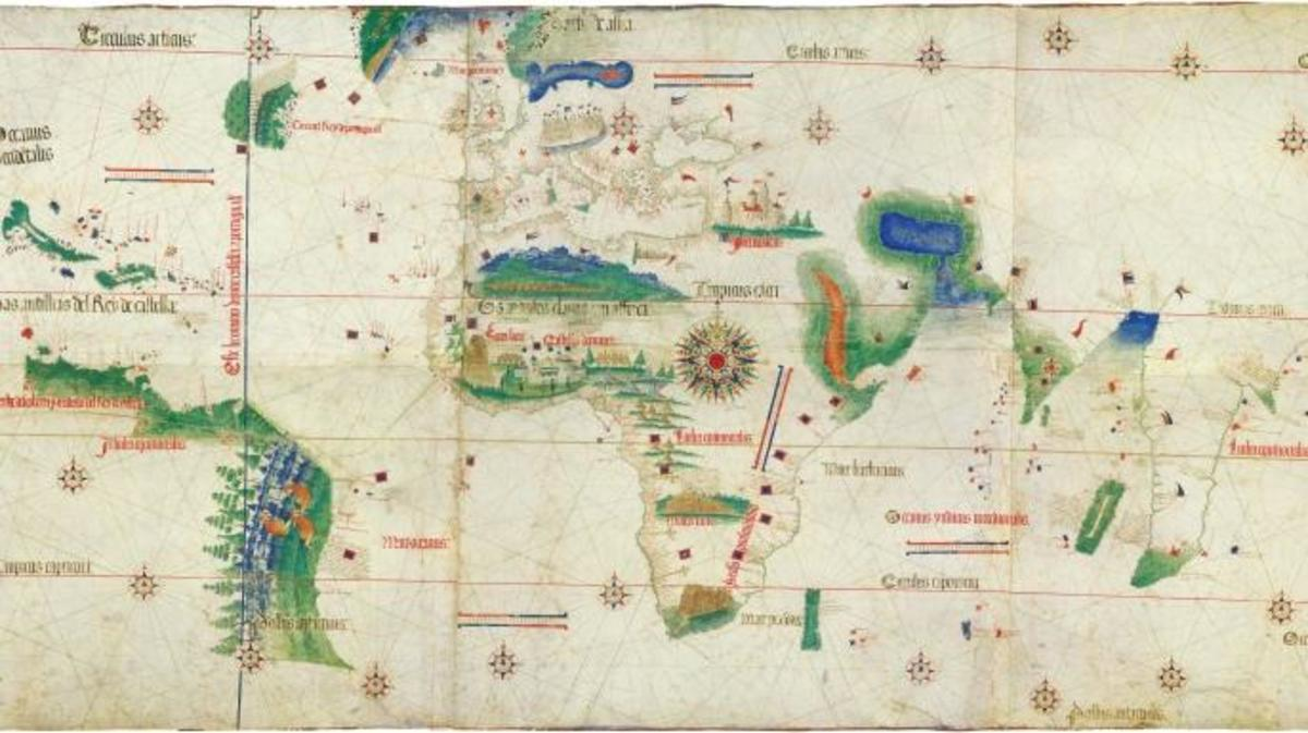 The Cantino Planisphere. (Credit: The Cantino Planisphere/Getty Images)