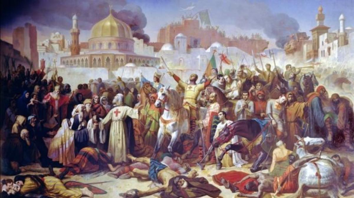 Taking of Jerusalem by the Crusaders, 15th July 1099. (Credit: Public Domain)