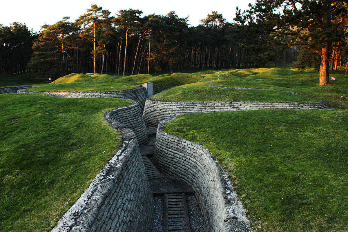 (GERMANY OUT) First World War trenches at Vimy Ridge National Historic Site of Canada, France.   (Photo by Forster/ullstein bild via Getty Images)