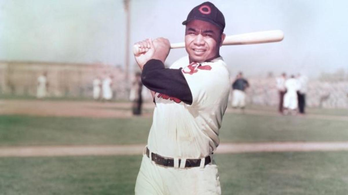 Larry Doby of the Cleveland Indians