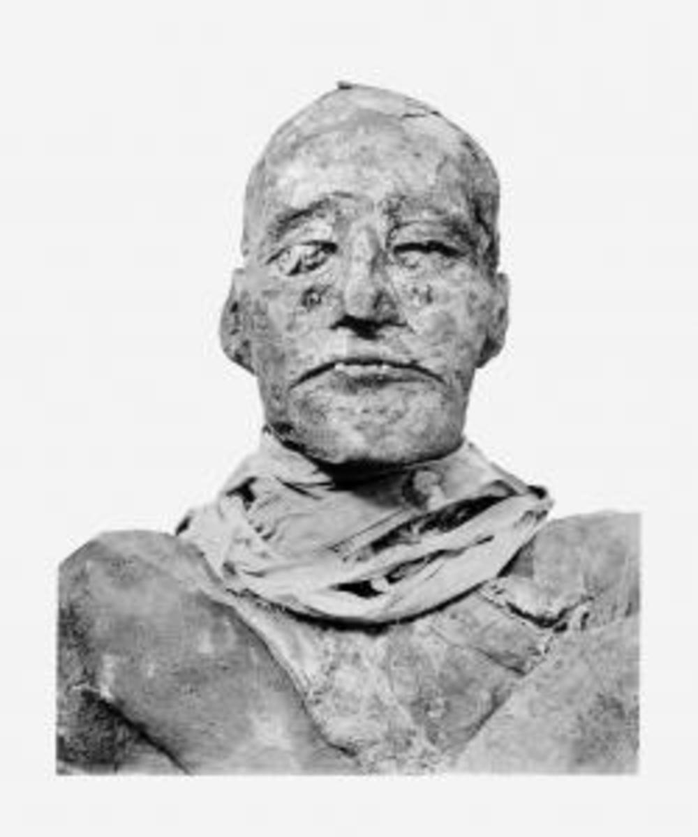 Head of mummy of pharaoh Ramesses III. (Credit: Public Domain)