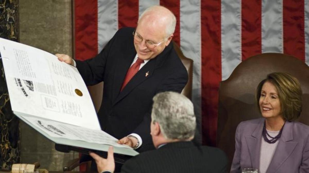 Obama Officially Declared Winner of 2008 Election. (Credit: Scott J. Ferrell/Congressional Quarterly)
