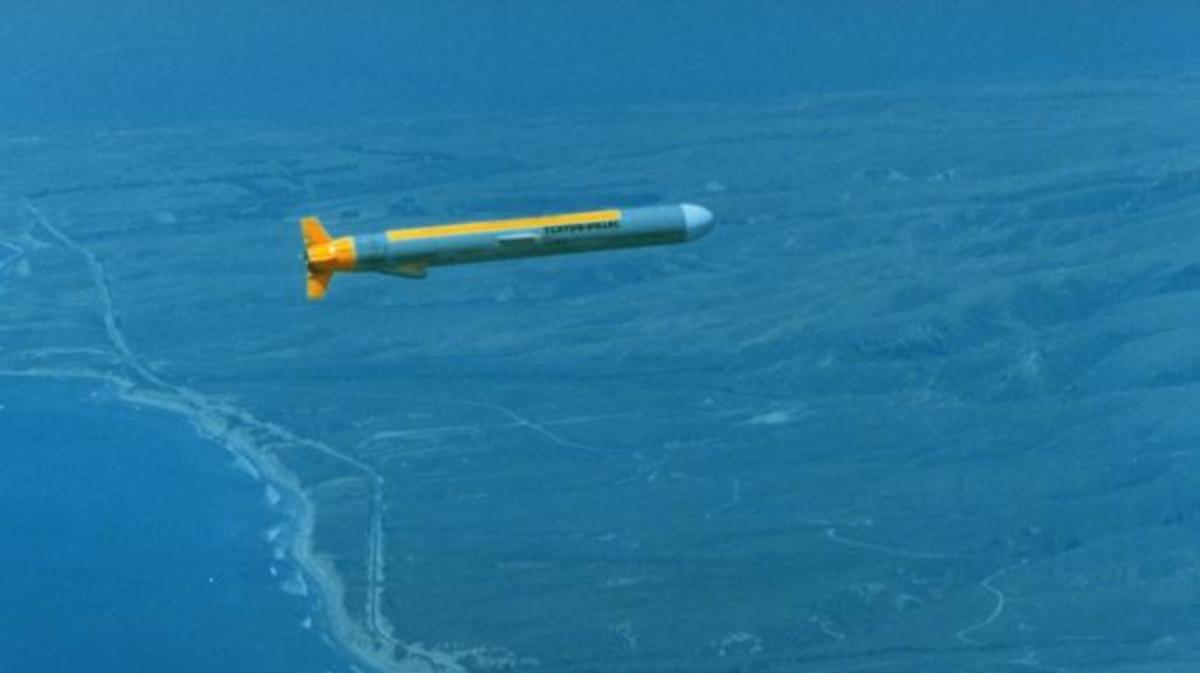 A Tomahawk Cruise Missile on a test fire