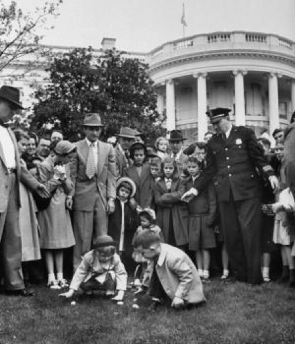 President Dwight Eisenhower's grandchildren at an Easter Egg Roll. (Credit: George Skadding/The LIFE Picture Collection/Getty Images)