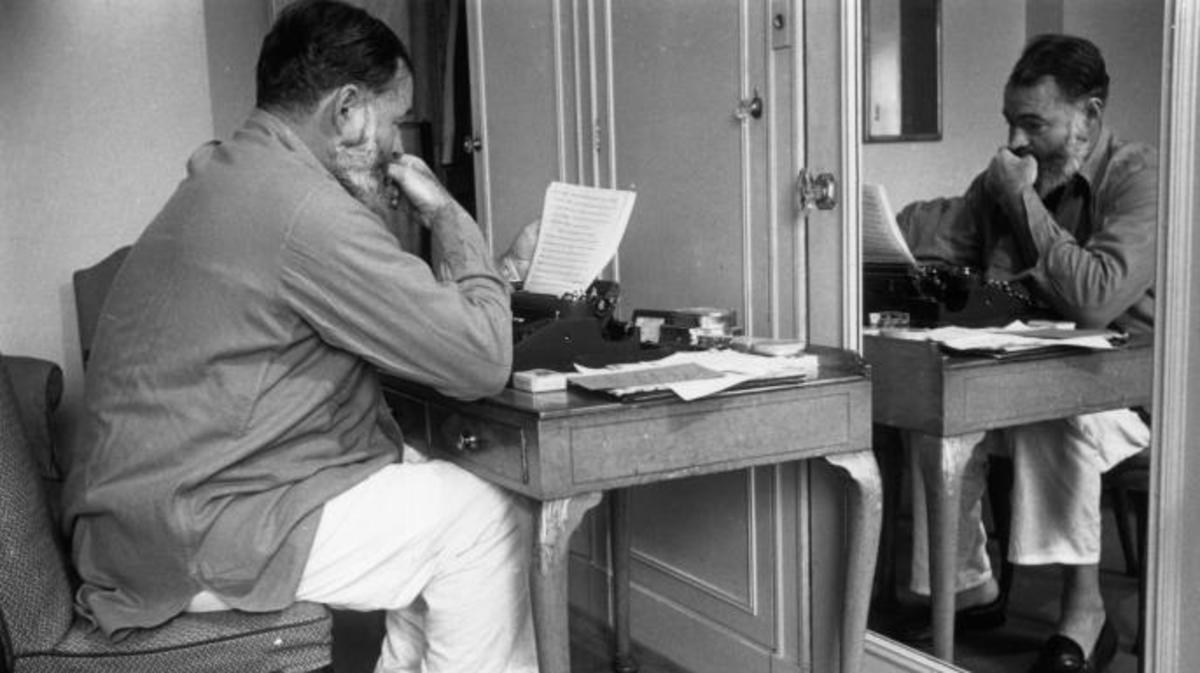 Hemingway writes up copy for a report on World War II in Europe.