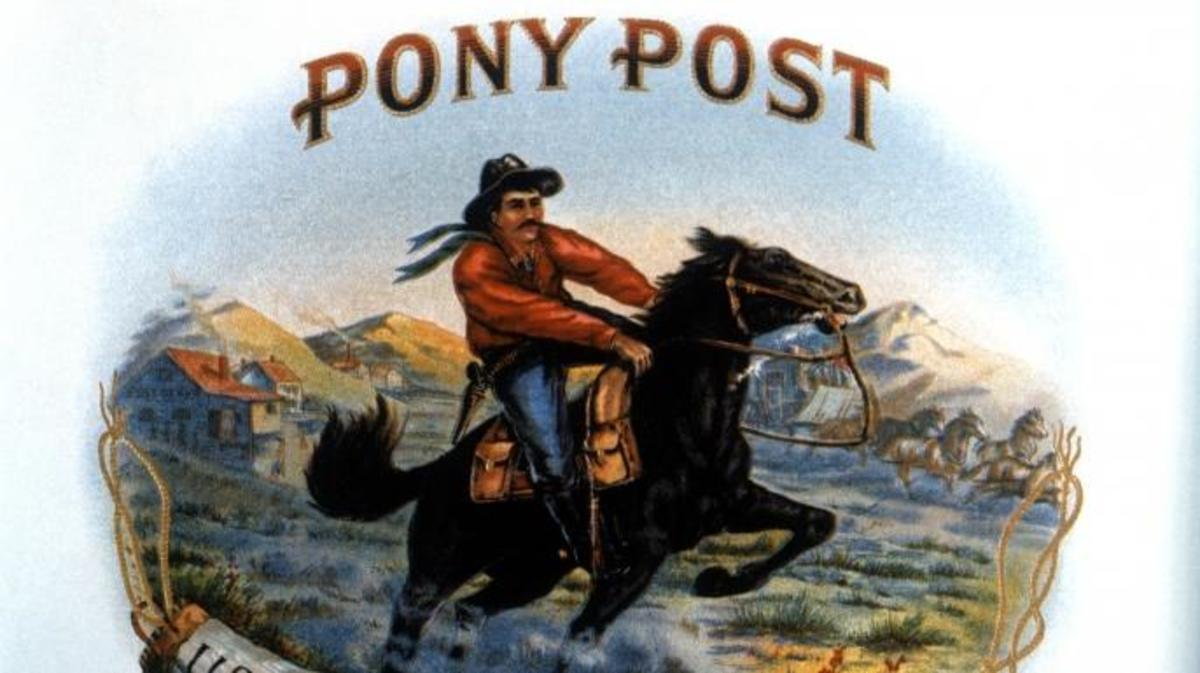 Pony Post, Lithograph. (Credit: Universal History Archive/Getty Images)