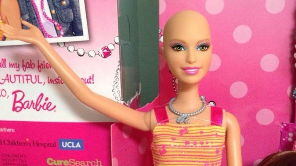 "Barbie's friend Ella, known as ""Chemo Barbie."" (Credit: Ella Chemotherapy Barbie/https://www.facebook.com/EllaChemotherapyBarbie)"
