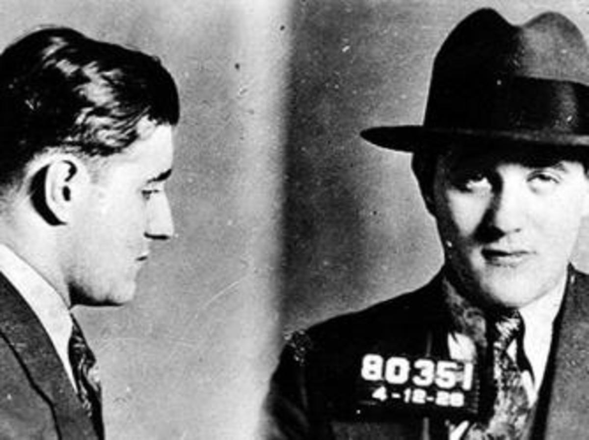 "Mugshot of Jewish-American mobster Benjamin ""Bugsy"" Siegel in the 1920s. (Credit: New York Police Department)"