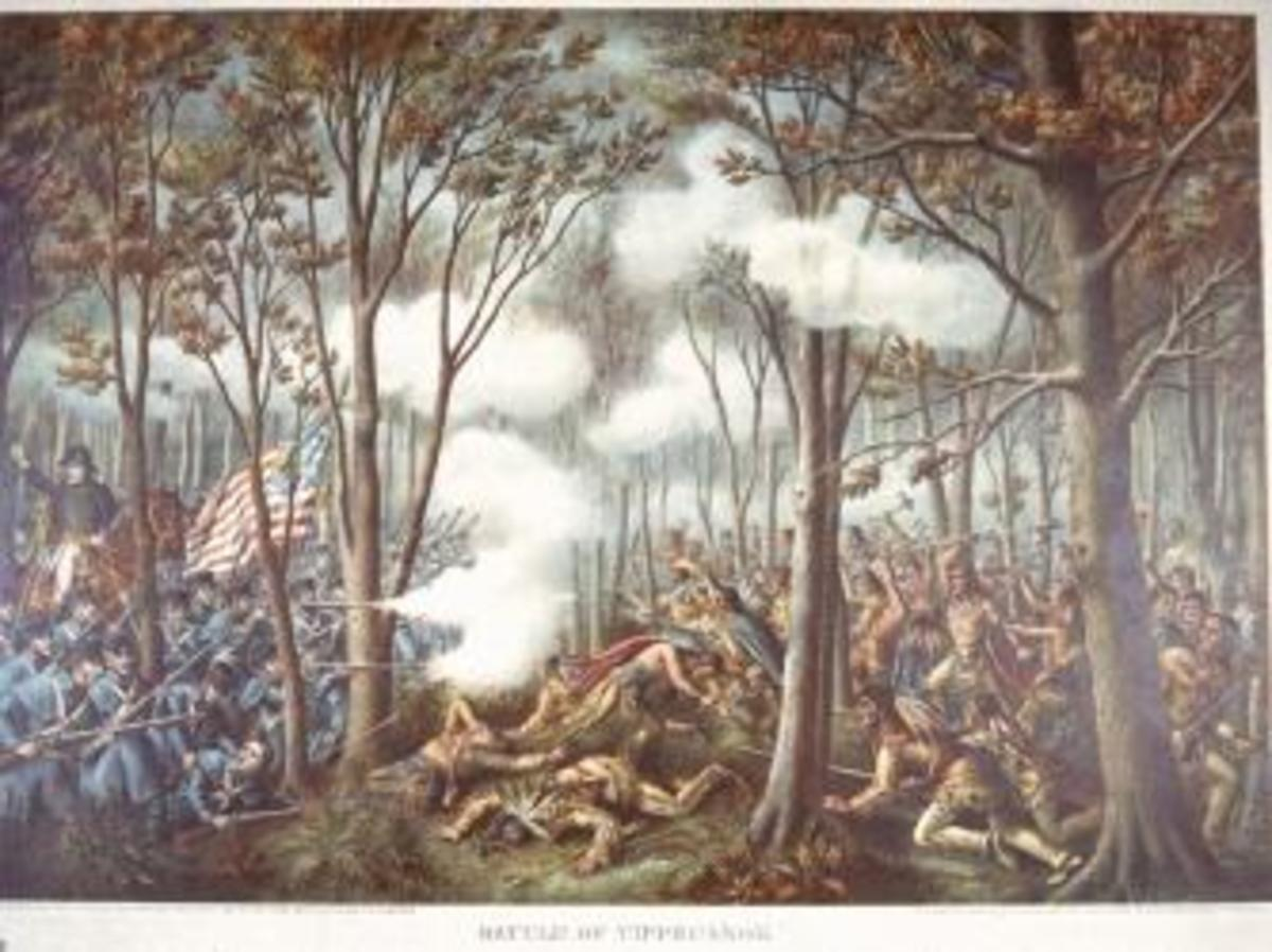 Depiction of Battle of Tippecanoe.  (Credit: The LIFE Images Collection/Getty Images)