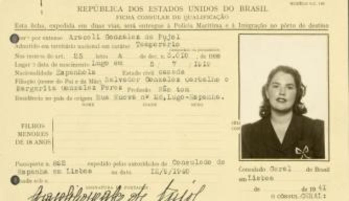 Araceli Pujol García Brazilian ID card. (Credit: National Archives)