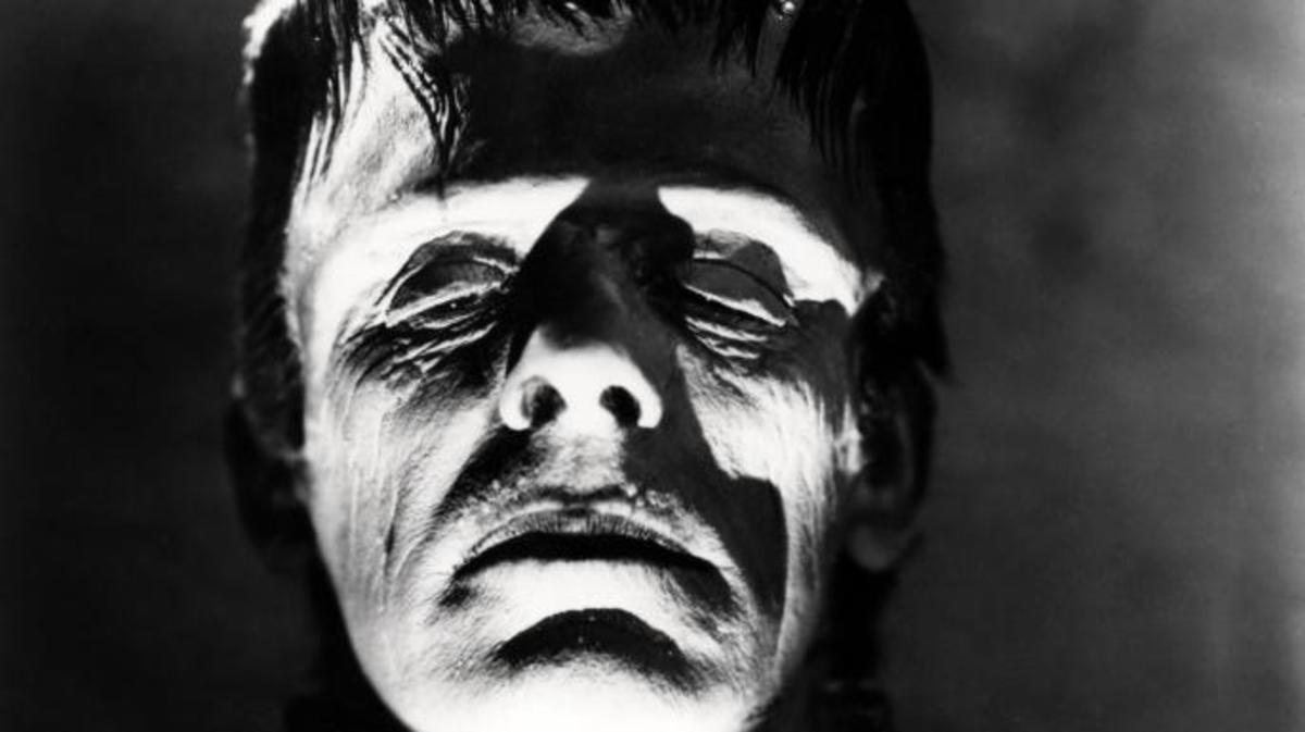 British actor Boris Karloff (1887 - 1969) as The Monster in a promotional portrait for 'Frankenstein', directed by James Whale, 1931. (Photo by Silver Screen Collection/Getty Images)